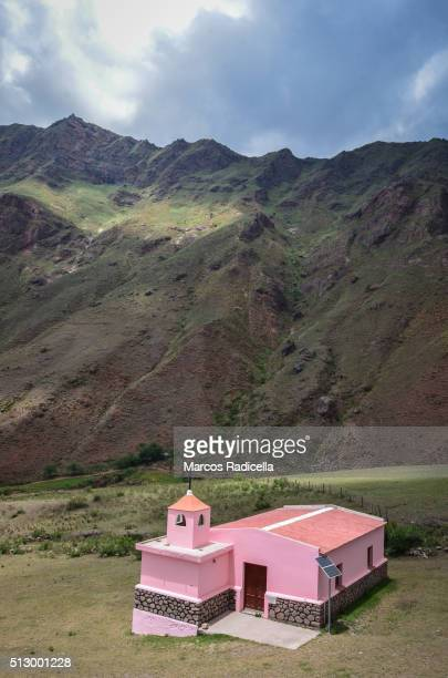 country church in salta, northern argentina - radicella stock pictures, royalty-free photos & images
