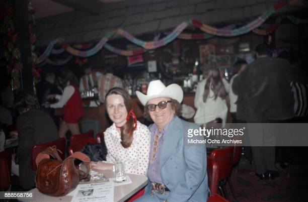 Country clothing designer Nudie Cohn poses for a photo at The Palomino Club on March 20 1972 in the North Hollywood area of Los Angeles California
