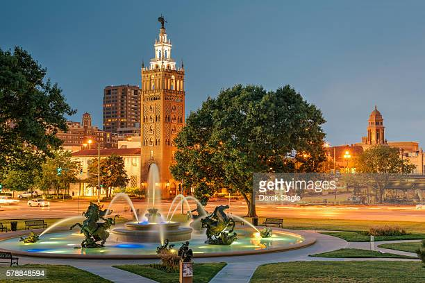 Country Club Plaza at the blue hour