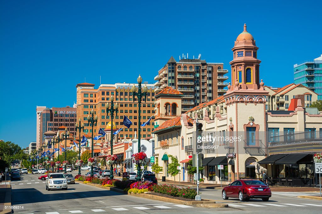Country Club Plaza Shopping District in Kansas City : Stock Photo