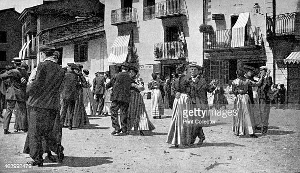 Country dance after a church service on feast days Andorra 1922 From Peoples of All Nations Their Life Today and the Story of Their Past volume I...