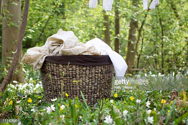 Country fresh laundry in basket