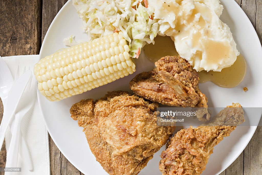 Country Fried Chicken Meal : Stock Photo