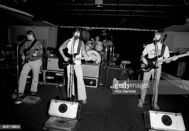 Country Group Alabama L/R Jeff Cook Randy Owen Mark Herndon and Teddy Gentry perform at the opening of 'My Home Is Alabama' Nightclub in Birmingham...
