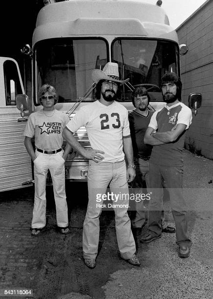 Country Group Alabama L/R Mark Herndon Randy Owen Jeff Cook and Teddy Gentry open 'My Home Is Alabama' Nightclub in Birmingham Alabama September 10...