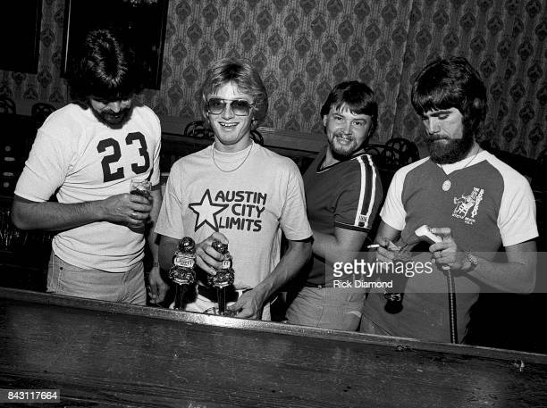 Country Group Alabama L/R Randy Owen Mark Herndon Jeff Cook and Teddy Gentry open 'My Home Is Alabama' Nightclub in Birmingham Alabama September 10...