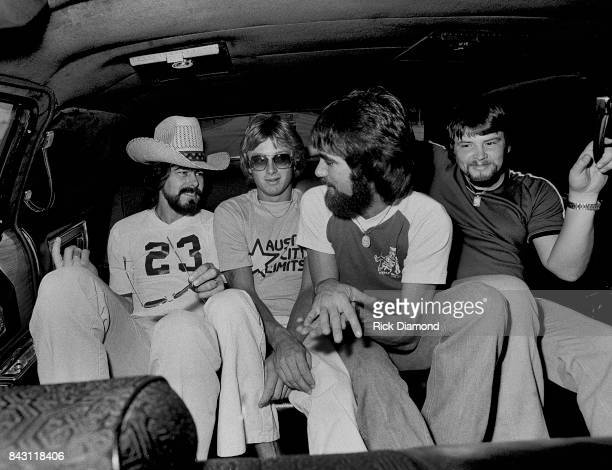 Country Group Alabama L/R Randy Owen Mark Herndon Ted Gentry and Jeff Cok open 'My Home Is Alabama' Nightclub in Birmingham Alabama September 10 1980