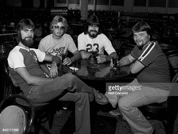Country Group Alabama L/R Teddy Gentry Mark Herndon Randy Owen and Jeff Cook open 'My Home Is Alabama' Nightclub in Birmingham Alabama September 10...