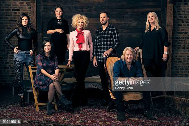 Country group Little Big Town and songwriters from left: Karen Fairchild of LBT, songwriter Lori Mckenna, songwriter Hillary Lindsey, Kimberly...