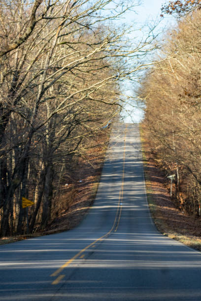 Country Highway On A Cold December Morning In Southern Illinois