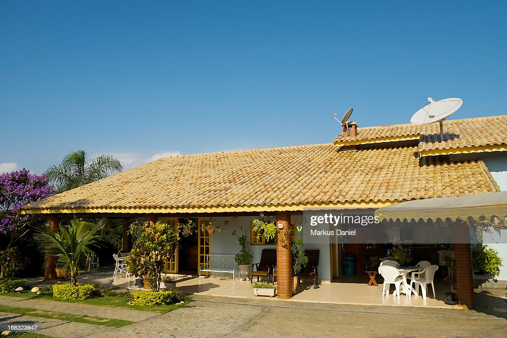 Country House Brazil Blue Sky : Stock Photo