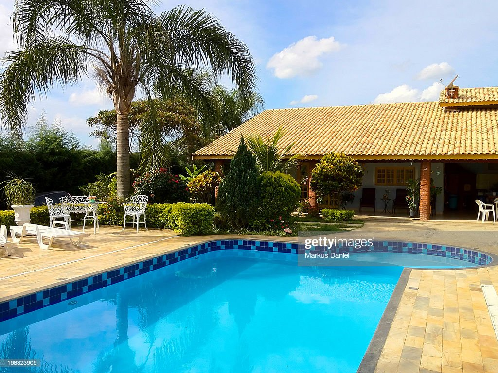 Country House Brazil With Pool : Stock Photo