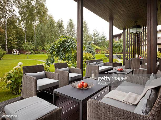 country house in the luxury village near moscow - furniture stock pictures, royalty-free photos & images