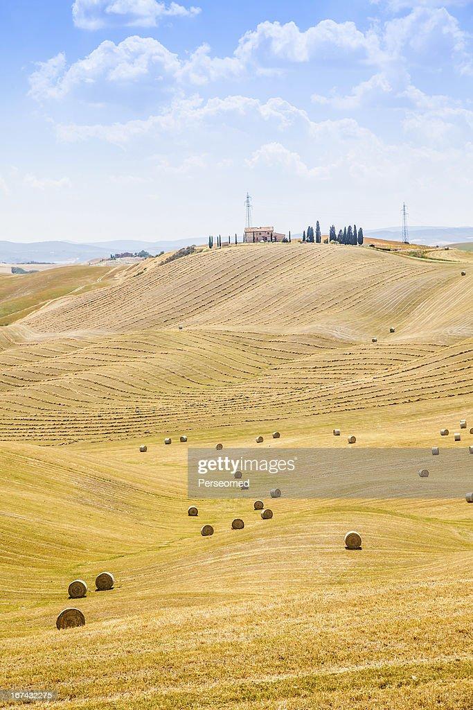 País em Toscana : Foto de stock