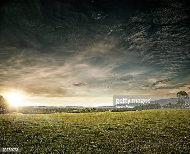country landscape - dramatic sky stock pictures, royalty-free photos & images