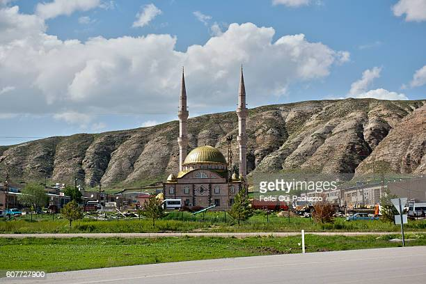 country mosque at zara of turkey - sivas stock pictures, royalty-free photos & images