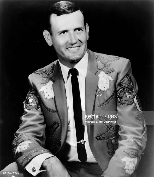 Country music and Grand Ole Opry star Jimmy C Newman poses for a portrait wearing a Nudie Suit designed by Nudie Cohn with Alligators embroidered on...