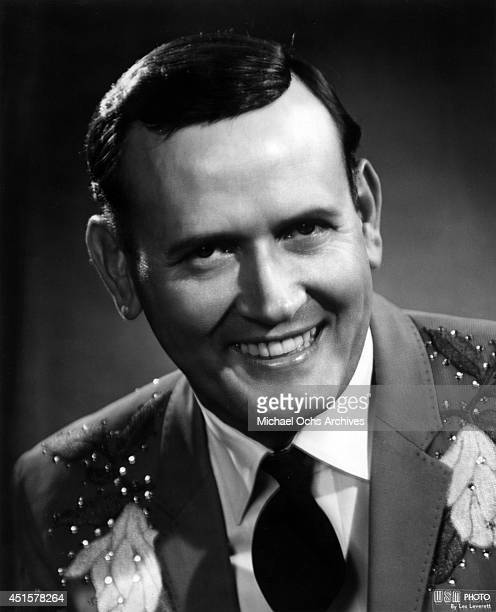 Country music and Grand Ole Opry star Jimmy C Newman poses for a portrait wearing a Nudie Suit designed by Nudie Cohn in circa 1960