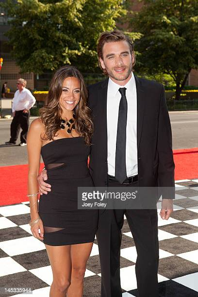 Country music artist and actress Jana Kramer with actor Ryan O'Nan attend 2012 Indy 500 Snakepit Ball at Indiana Roof Ballroom on May 26 2012 in...