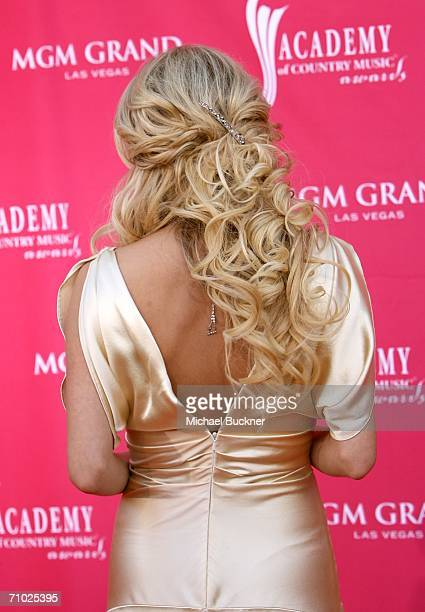 Country music artist Carrie Underwood arrives at the 41st Annual Academy Of Country Music Awards held at the MGM Grand Garden Arena on May 23 2006 in...