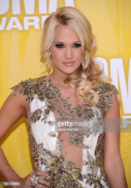 Country music artist Carrie Underwood attends the 46th annual CMA Awards at the Bridgestone Arena on November 1 2012 in Nashville Tennessee