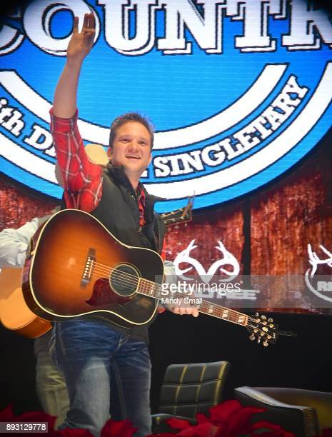 Country music artist David Allen Burns performs during the 'Keepin' it Country with Daryle Singletary' show during the National Finals Rodeo's Cowboy...
