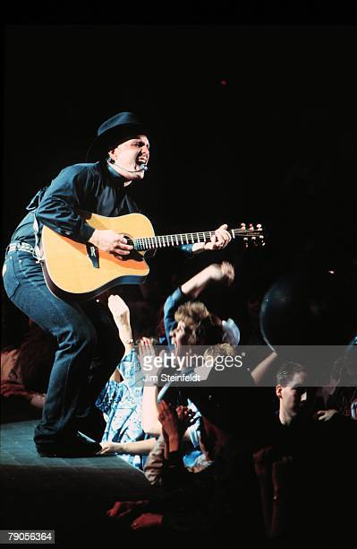 Country Music Artist Garth Brooks performs at the Target Center in Minneapolis Minnesota on February 23 1994