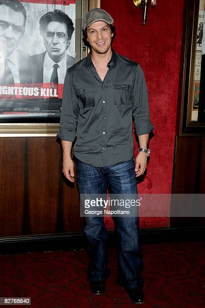 Country music artist Gavin McGraw attends the New York premiere of 'Righteous Kill' at the Ziegfeld Theater on September 10 2008 in New York City