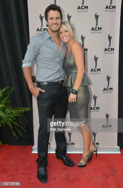 Country music artist Luke Bryan and Caroline Bryan attend the 6th Annual ACM Honors at Ryman Auditorium on September 24 2012 in Nashville Tennessee