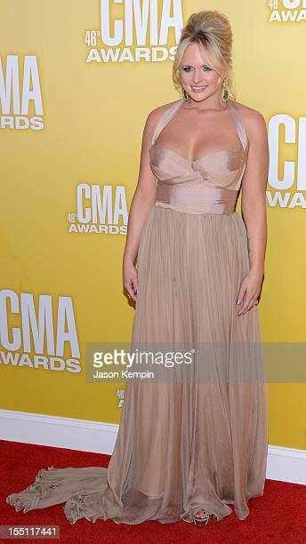 Country music artist Miranda Lambert attends the 46th annual CMA Awards at the Bridgestone Arena on November 1 2012 in Nashville Tennessee