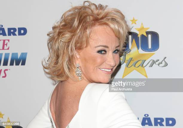Country Music Artist Tanya Tucker attends the 27th annual Night Of 100 Stars black tie dinner viewing gala at The Villa Aurora on February 26 2017 in...