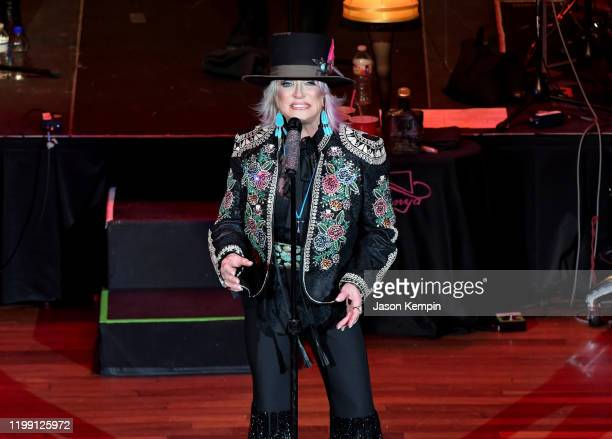 Country music artist Tanya Tucker performs at the Ryman Auditorium on January 12 2020 in Nashville Tennessee