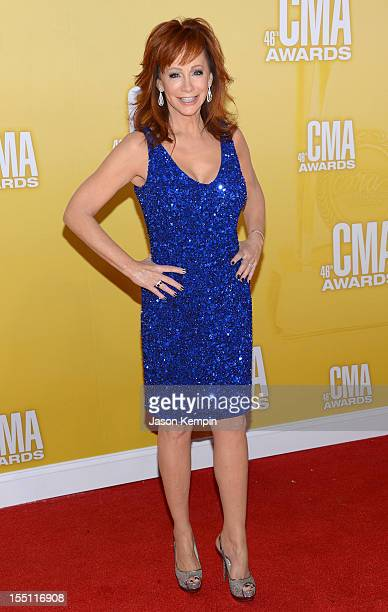 Country music artist/actress Reba McEntire attends the 46th annual CMA Awards at the Bridgestone Arena on November 1 2012 in Nashville Tennessee