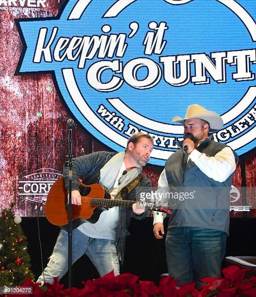 Country music artists Andy Griggs and Daryle Singletary perform during the 'Keepin' it Country with Daryle Singletary' show during the National...