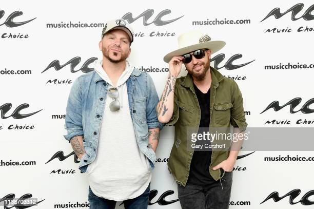 Country music duo Chris Lucas and Preston Brust of Locash visit Music Choice on March 27 2019 in New York City