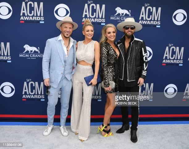 Country music duo Locash and guests arrive for the 54th Academy of Country Music Awards on April 7 2019 in Las Vegas Nevada
