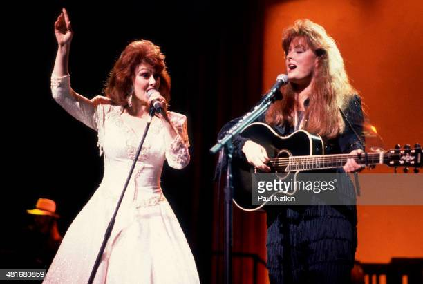 Country music duo the Judds with Naomi Judd and her daughter Wynonna perform onstage Chicago Illinois February 1 1991