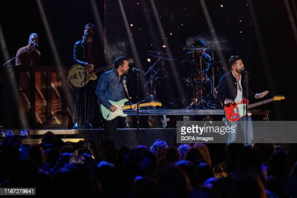 SADDLEDOME CALGARY ALBERTA CANADA Country Music Group Old Dominion performs during the 2019 Canadian Country Music Association Awards show