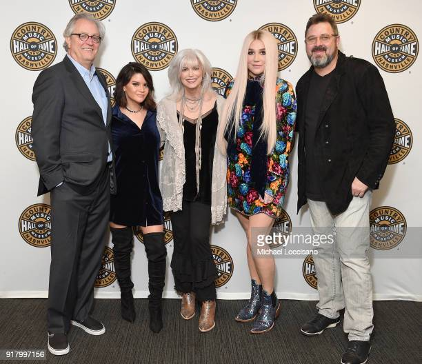 Country Music Hall of Fame CEO Kyle Young musicians Maren Morris Emmylou Harris Kesha and Vince Gill attend the Country Music Hall of Fame and...