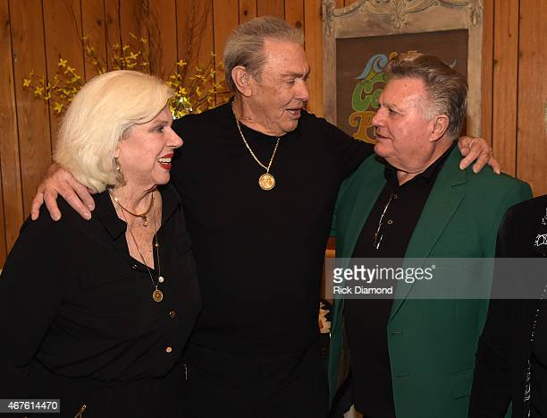 Country Music Hall of Fame Inductees Bonnie Brown Jim Ed Brown and Recording Artist Leroy Van Dyke attend Country Music Hall of Fame inducees Jim Ed...