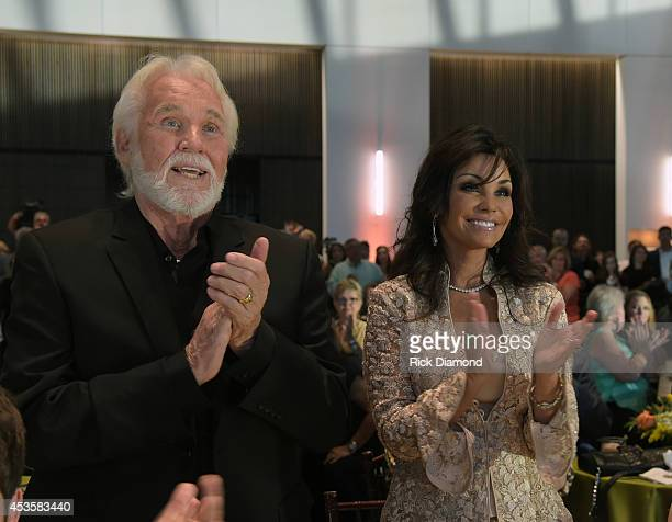 Country Music Hall of Fame member Kenny Rogers and his wife Wanda Miller attend the Country Music Hall of Fame Kenny Rogers Exhibit Opening Reception...