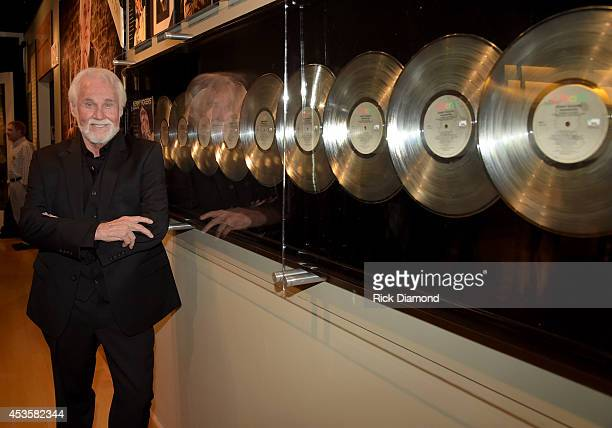 Country Music Hall of Fame member Kenny Rogers at the Country Music Hall of Fame Kenny Rogers Exhibit Opening Reception at the Country Music Hall of...