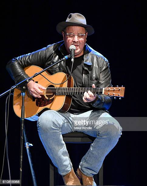 Country Music Hall of Fame member Vince Gill performs onstage during All For The Hall Los Angeles A benefit concert presented by The Country Music...