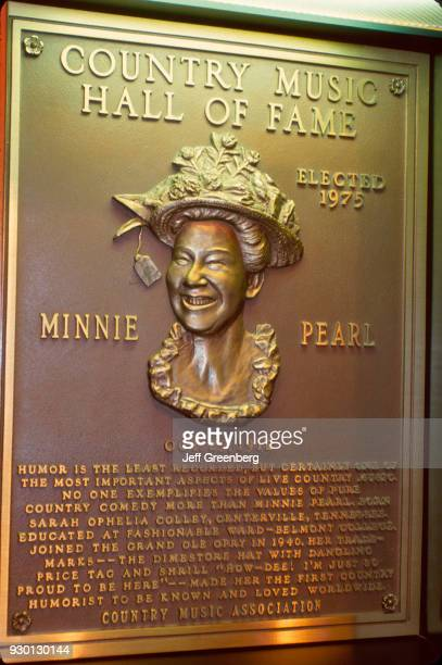 Country Music Hall of Fame Minnie Pearl plaque Nashville Tennessee