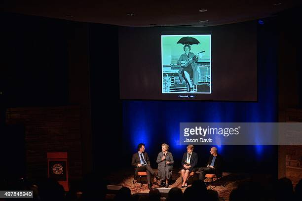 Country Music Hall of Fame's Peter Cooper Leads a Rememberance panel consisting of Rita Forrester Nancy Cardwell and Carl Jackson during the 9th...