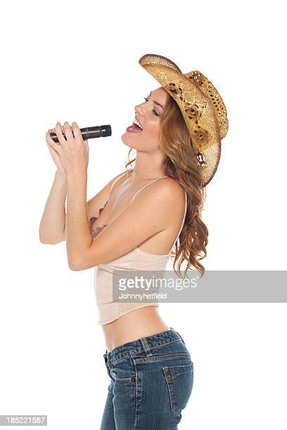 Country music idol with a cowboy hat