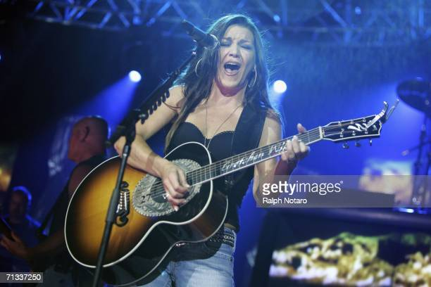 Country music recording artist Gretchen Wilson performs in Hard Rock Live at Seminole Hard Rock Hotel and Casino on June 29 2006 in Hollywood Florida