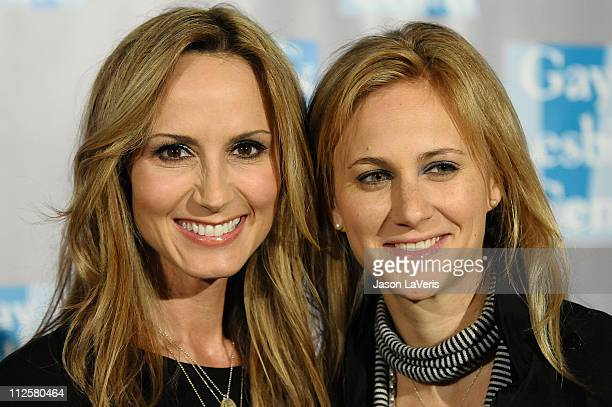 Country music singer Chely Wright and fiance Lauren Blitzer attend LA Gay Lesbian Center's An Evening With Women at The Beverly Hilton hotel on April...