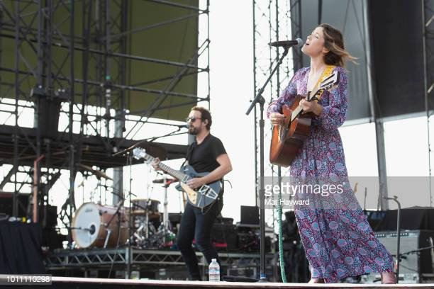 Country music singer Jillian Jacqueline performs on stage during day two of the Watershed Music Festival at Gorge Amphitheatre on August 4 2018 in...