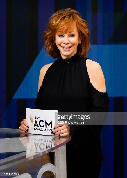 Country music singer Reba McEntire announces the nominees for the 53rd annual Academy of Country Music Awards while on set of CBS This Morning March...
